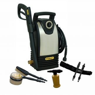 Stanley P1450S Electric Pressure Washer - tool belt & brushes