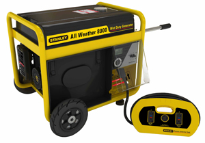 Stanley G8000S-CAN All Weather Generator - control panel