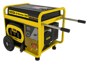 Stanley G5000S All Weather Generator on Left side