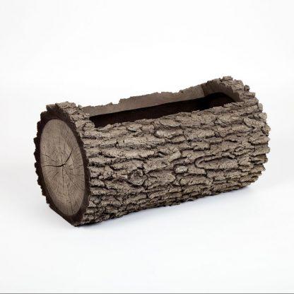 Surreal H3-LOGPLANTER Horizontal Oak Planter