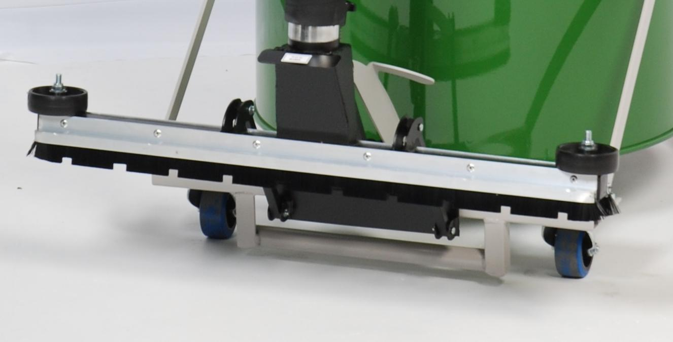 Front-Mounted Floor Brush in Raised position