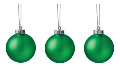 """Xodus Innovations 5"""" Outdoor Ornamental LED Globes - Green 3-Pack"""