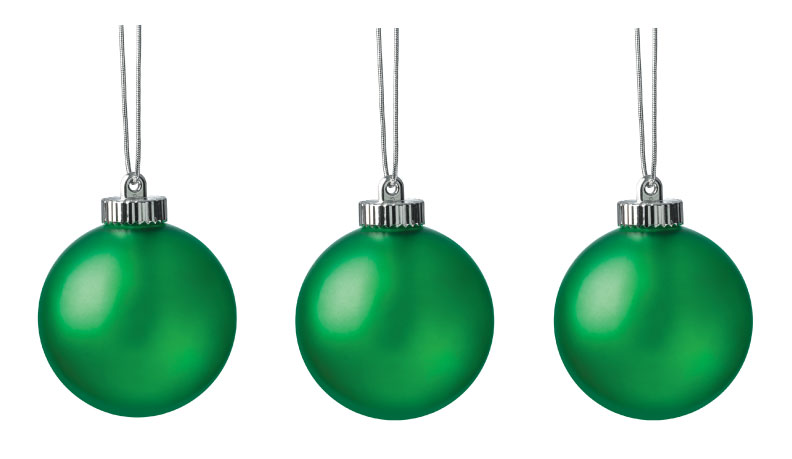 "Xodus Innovations 5"" Outdoor Ornamental LED Globes - Green 3-Pack"
