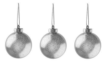 """Xodus Innovations 5"""" Outdoor Ornamental LED Globes - Silver 3-Pack"""