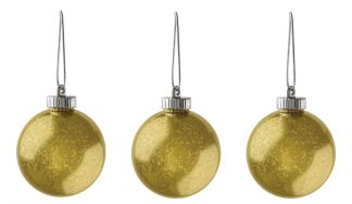 "Xodus Innovations 5"" Outdoor Ornamental LED Globes - Gold 3-Pack"