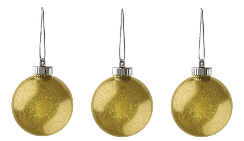 """Xodus Innovations 5"""" Outdoor Ornamental LED Globes - Gold 3-Pack"""