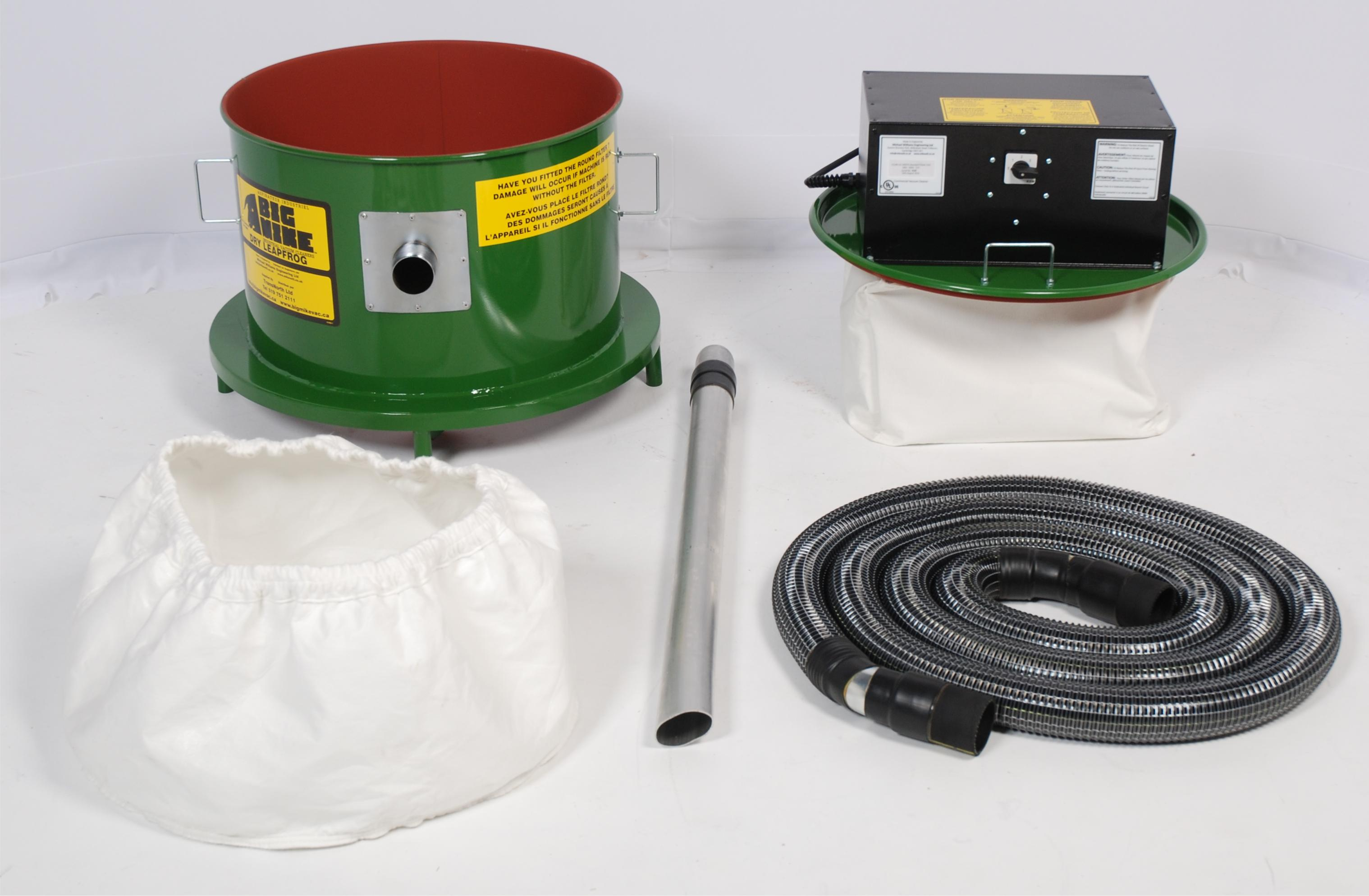 Leapfrog Dry-Only Industrial Vacuum and Accessories