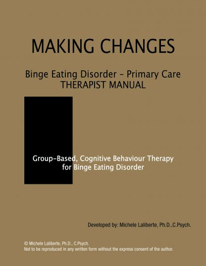 Binge Eating Disorder Primary Care Therapist Manual