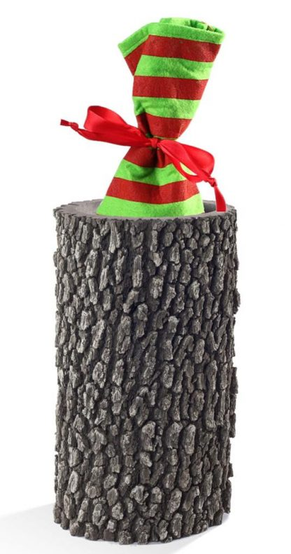 """SURREAL 12"""" Oak Vase - Wine Gift"""