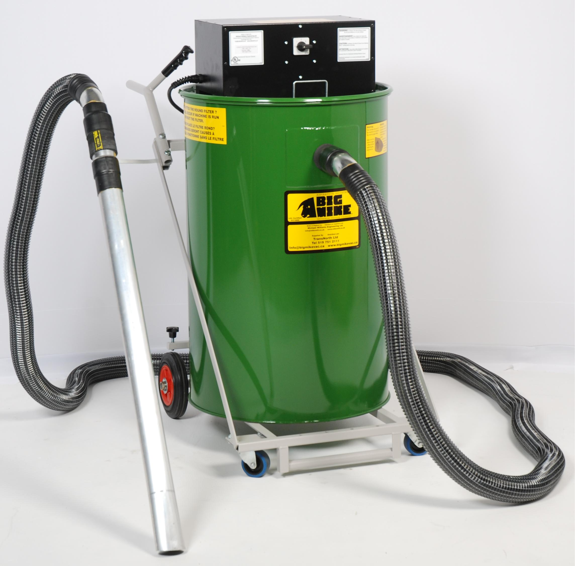Big Mike Dry-Only Popular Industrial Vacuum Right View