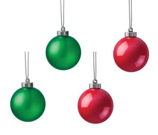 Xodus Innovations Ornamental LED Globes - Red & Green