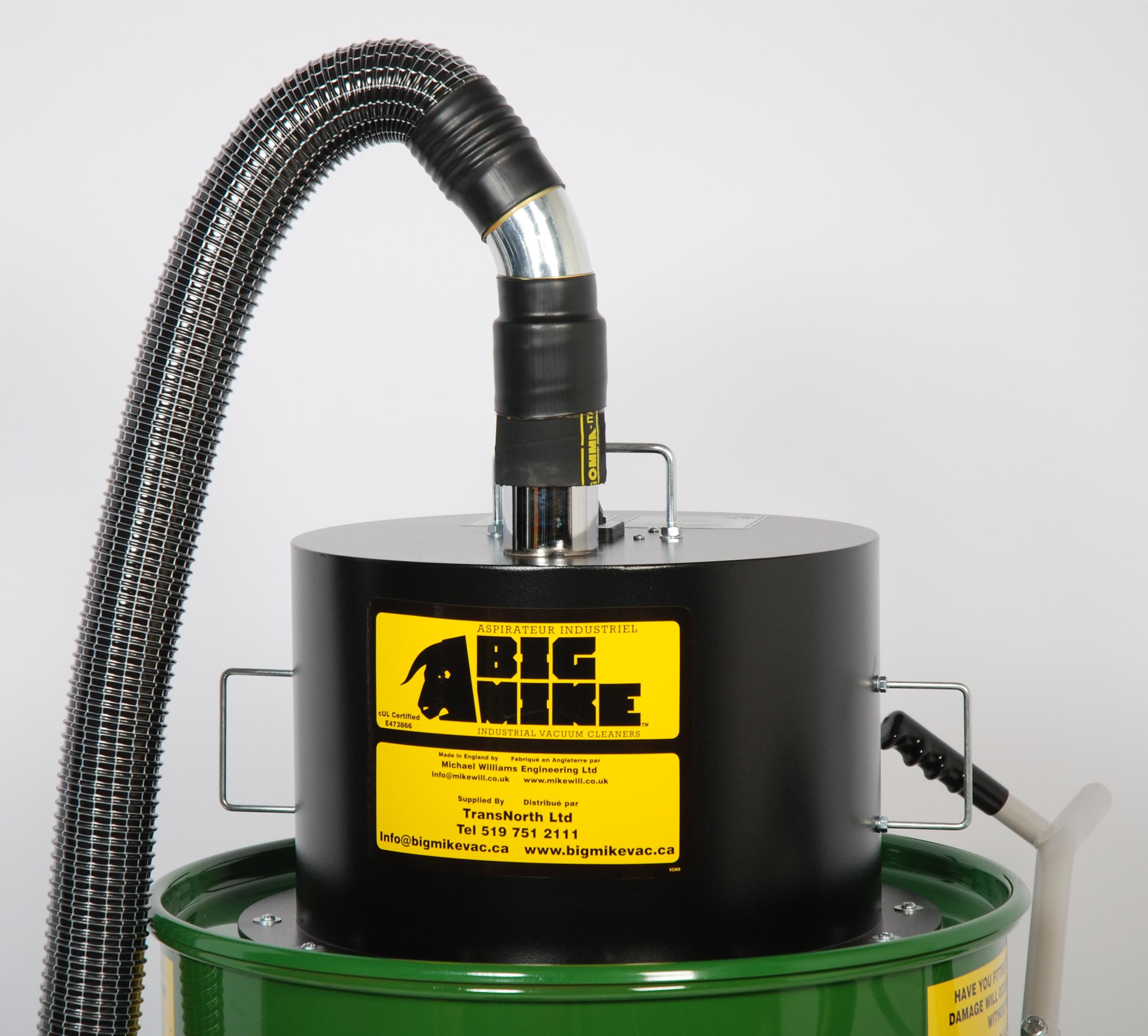 S&B Industrial Vacuum Air Outlet Connected