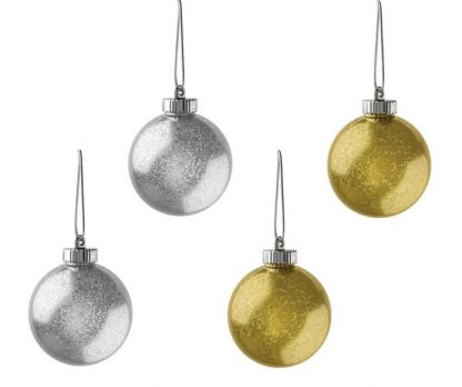 """Xodus Innovations 5"""" Outdoor Ornamental LED Globes - Silver & Gold 18-Pack"""