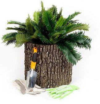 "SURREAL 13"" Vertical Oak Planter"