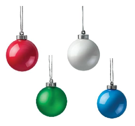 """Xodus Innovations 5"""" Outdoor Ornamental LED Globes - Variety 4-Pack"""
