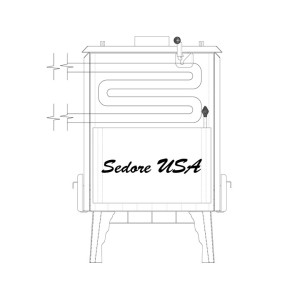 Sedore radiant water coil